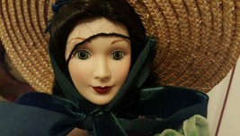 "Franklin Mint SCARLETT O'HARA Gone With The Wind Porcelain Doll 19"" - $98.99"
