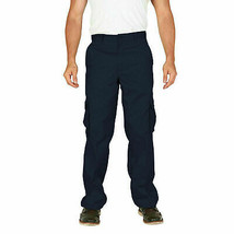 Men's Classic Multi-Pocket Casual Military Navy Cargo Pants Trousers - 38x32 image 1