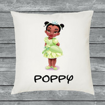 Personalised Tiana Toddler Princess Cushion Cover Name Gift  - £7.79 GBP
