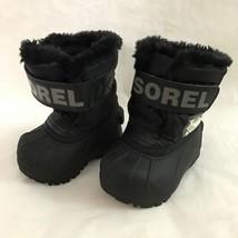 Sorel 4 Boys Snow Commander Snow Boots  Black  - £32.89 GBP