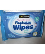 DG Home 42 Flushable Wipes With Fresh Scent - $9.99