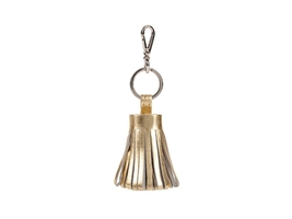 Gold Tassel Keychain Made With 100% Genuine Leather - $18.95
