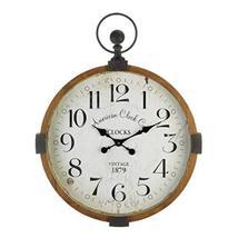 "Vintage Industrial Wall Clock 23.75x30.5x3"" - $133.89"