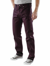 New Levi's Strauss 501 Men's Original Straight Leg Eggplant Ridid Jeans 501-1498 image 2