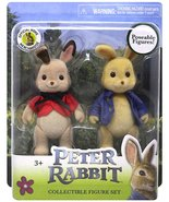 "Peter Rabbit Collectible Poseable Figure Set 3.5"" Peter & Flopsy - $10.99"