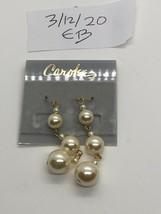 Carolee Faux Pearl Pierced Dangling Earrings - $11.87