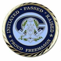 Masonic Collectible Order of Freemason Brotherhood Grand Lodge Gift Coin - $14.84