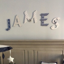 Nautical Wood Letters-Nursery Decor- Price Per Letter- Custom made Many ... - $12.50