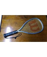 WILSON TEMPEST PLUS RACQUET BALL RACQUET WITH LEATHER HANDLE AND COVER #2 - $14.97