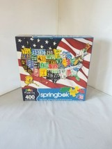 Springbok Family Jigsaw Puzzle 400 pc State License Plates USA Small Big Pieces - $14.99