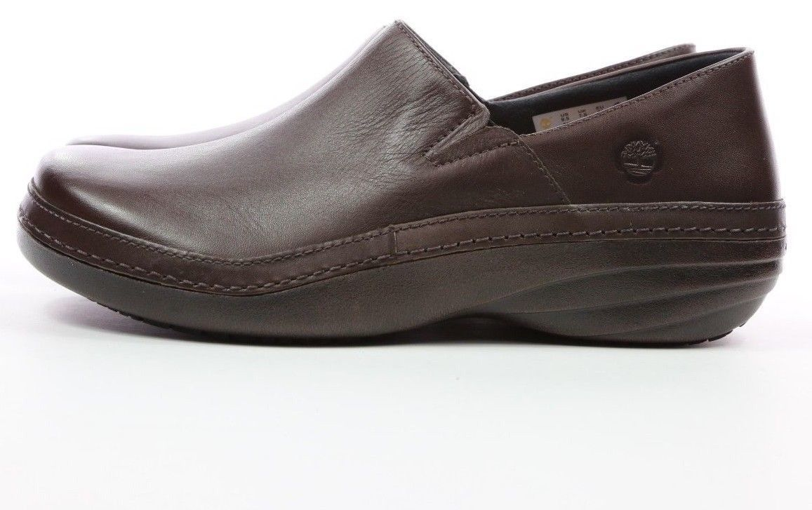 Timberland Pro Womens Work Non Slip Clogs - Brown Leather [89688]