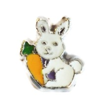 Bunny with Carrot Charm for Floating Locket (LCHM-190) - $0.99
