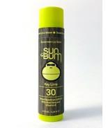 NEW - SUN BUM SUNSCREEN LIP BALM - Key Lime 30 SPF Aloe Vera Vitamin E - $6.99