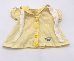 Vtg Cabbage Patch Kid Clothes Doll Outfit Yellow And White Striped Sailo... - $13.86