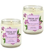 2 Pc Bath & Body Works Fresh Cut Lilacs 1 Wick Scented Candles 7 oz - $32.71