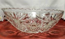"""EARLY AMERICAN PRECUT EAPG STAR OF DAVID GLASS SERVING BOWL 10 3/4"""" image 3"""