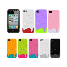 Melting Ice-cream Hard Skin Back Case Cover Protector For Apple iPhone 4... - $9.99