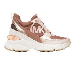 Michael Kors Women's Mickey Trainer Tech Canvas Dark Fawn Sneaker Shoes image 3