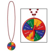 "Club Pack of 12 Beaded Necklace Spinner Medallion 40"" - €49,17 EUR"