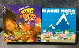 Lot/2 King of Tokyo Machi Koro Richard Garfield Iello Board Games - $54.45