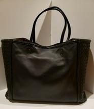 100% Authentic Bottega Veneta Large Ayers trim Tote in black leather.  EUC! - $960.59