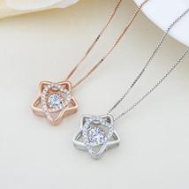 Fashion Star Heart CZ 925 Sterling Silver Pendant - $8.36+