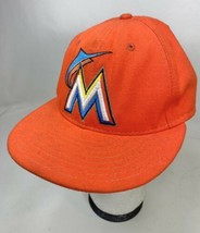 Miami Marlins New Era 59Fifty 7 1/8 Fitted Hat Orange  - $12.86