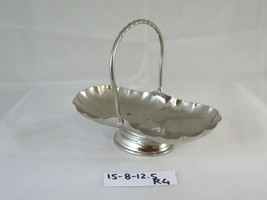 Antique Trash Can IN Metal silver plated Ideale As Centerpieces Trays R4 - $50.91