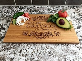 Personalized Cutting Board 11 x 17 Bamboo - Grayson Style - $52.38