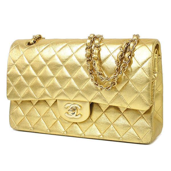 59574c20ff7d29 CHANEL Matelasse 25 Chain Shoulder Gold Bag and 39 similar items