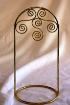 """Gold Wire Christmas Ornament Holder/Stand 7 3/4"""" - $6.29"""
