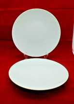 """Thomas Rosenthal Germany Trend White Plate Dish 22 cm 8 5/8"""" Wide Set of 2  - $68.15"""