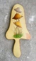 Vintage Mid-Century Folk Art Hand Painted Wall Plaque - Mushrooms - Retro - $26.89