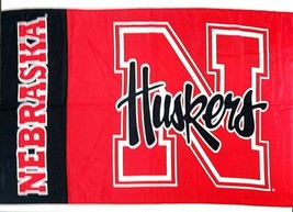 "NCAA University of Nebraska Cornhuskers Deluxe Flag, 60"" x 30"" - $24.99"