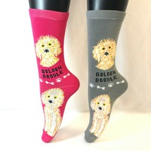 2 PAIRS Foozys Women's Socks GOLDENDOODLE, Canine Collection, Dog Print,... - $8.99