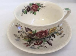 Johnson Brothers Windsor Ware Garden Bouquet Hand Painted Cup And Saucer... - $23.03
