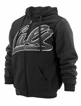Men's California Graphic Sherpa Lined Cali Zip Up Hoodie Jacket w/ Defect - L image 1
