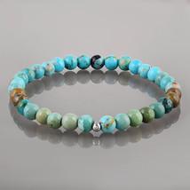 Purification, Stabilize Mood Swings - Turquoise Beaded Gemstone Stretch ... - $23.99