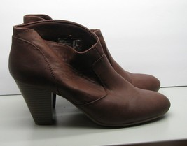 American Eagle Brown Ankle Boots 3.25 Heel Womans Size 11 Nice Shoes - $15.83