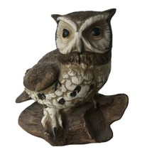 Vintage Homco Great Horned Owl Painted Ceramic Porcelain Figurine #1114 ... - $14.00
