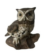Vintage Homco Great Horned Owl Painted Ceramic Porcelain Figurine #1114 Statue - $14.00