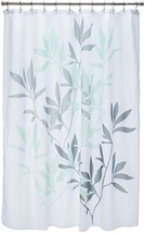 InterDesign Leaves Fabric Shower Curtain, Water-Repellent Bath Liner for... - $16.00