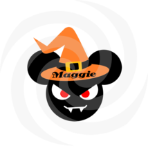 Mouse Halloween Maggie 103-Digital ClipArt-Names-Monster-Clipart-Gift Ta... - $4.99