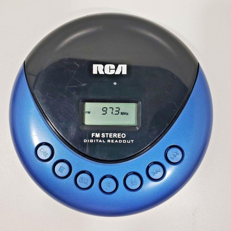 RCA  Portable Compact Disc CD PLAYER w/ LCD Anti-Skip/ FM Stereo