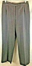 Harve Benard  Size 12 Gray Striped (red/white) Wool Lined Pants Adjustab... - $18.76