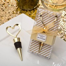 Gold heart design metal bottle stopper from fashioncraft  - $4.99