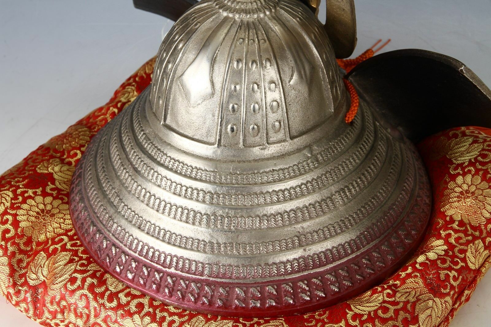Beautiful Vintage Samurai Helmet -Made in Japan- Silver Color