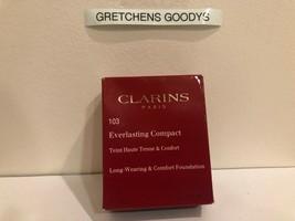 Clarins Everlasting Compact Long Wearing Foundation + #103 Ivory NIB .3 oz - $18.80