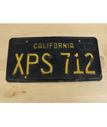 "Vintage California License Plate 1963 Yellow on Black Retro Genuine ""XPS... - $29.69"