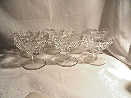 "7 Whitehall Depression Glass Sherbets 3.5"" tall Mint Indiana - $14.99"